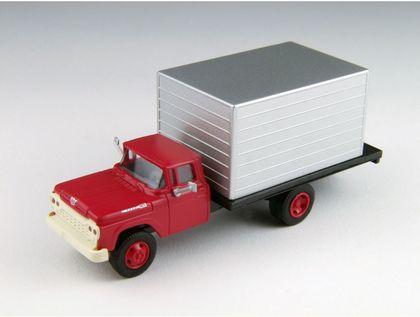 CVR Picture for '60 Ford Box truck Red/Silver