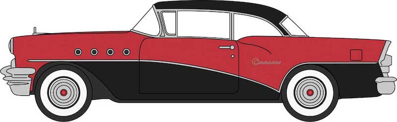 CVR Picture for 1955 Buick Century Blk/Red
