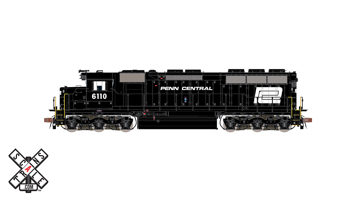 CVR Picture for RC SD45 PC/WhiteLogo #6110 w/DS