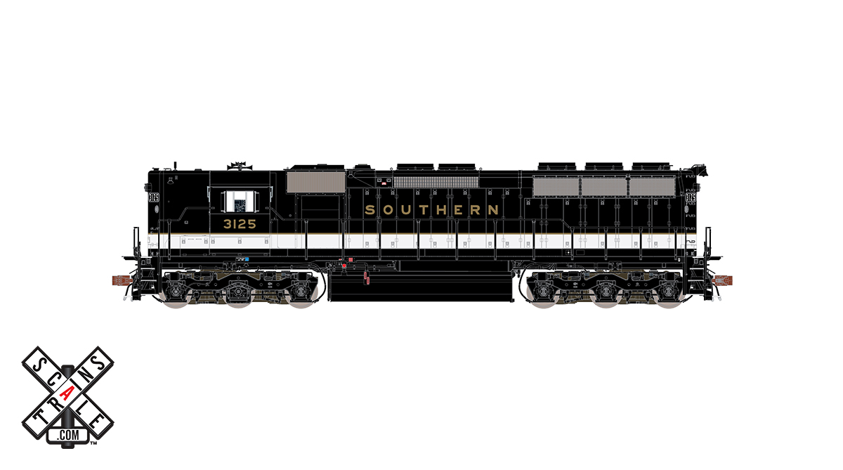 CVR Picture for RC SD45 Southern/GOLD #3125 w/DS