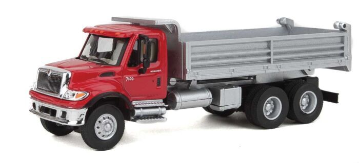 11880 Walthers SceneMaster International 7600 Crew Cab Solid Stake Bed MOW Truck