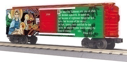 CVR Picture for 2019 MTH O Christmas Boxcar