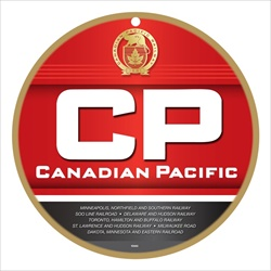 CVR Picture for 10in Round Plaque Canadian Pacific