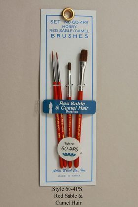 CVR Picture for Red Sable & Camel Hair Brush Set /4